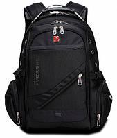 Городской ортопедический рюкзак Wenger Swissgear 8810 Швейцарский Оригинал Черный