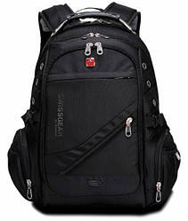 Городской ортопедический рюкзак Wenger Swissgear 8810 Швейцарский Оригинал (Черный)