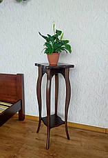 """Підлогова підставка під квіти з натурального дерева """"Азалія"""" (двоколірне), фото 3"""
