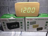 Электронные часы в деревянном корпусе VST 863