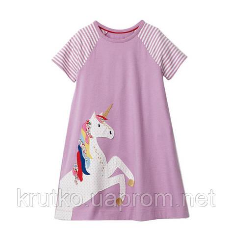 Платье для девочки Единорог Little Maven, фото 2