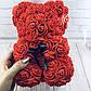 Мишка из 3D роз высотой 25см Красный, фото 4