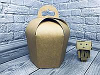 *10 шт* / Упаковка для пасхи / 138х138х180 мм / Коробка для кулича / Средн / Крафт / Пасха, фото 1