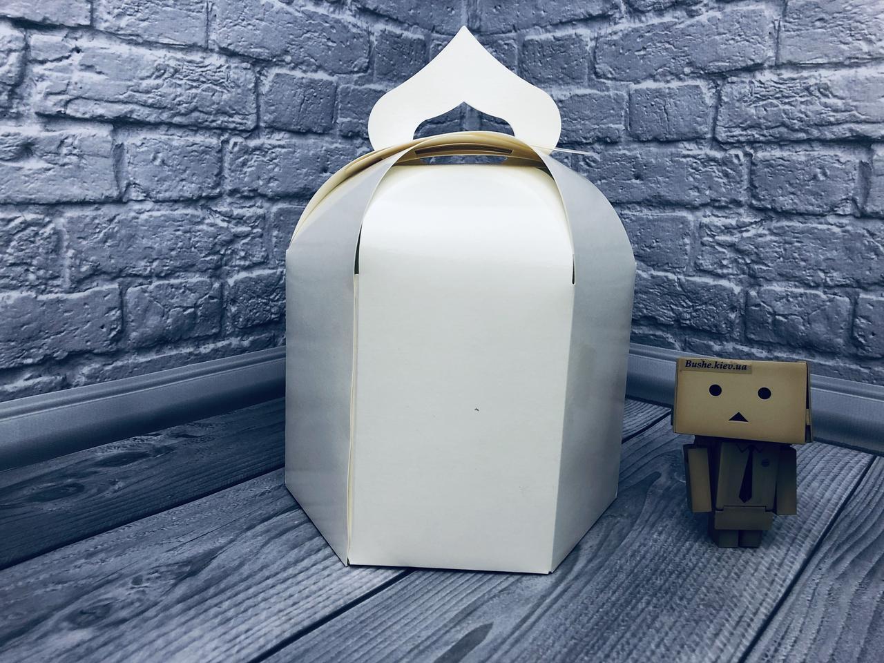 Упаковка для пасхи / 165х165х200 мм / Коробка для кулича / Больш / Белая / Пасха