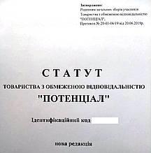 Статут ТОВ - нова редакція установчого документа із змінами підприємства