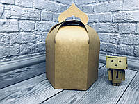 *10 шт* / Упаковка для пасхи / 165х165х200 мм / Коробка для кулича / Больш / Крафт / Пасха