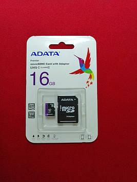 Карта памяти ADATA MicroSDHC 16Gb