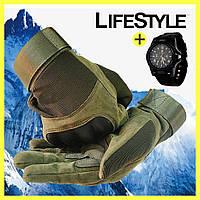 Тактичні рукавички Oakley + Годинник Swiss Army в Подарунок, фото 1