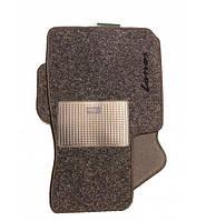 Коврики ворсовые для Daewoo Lanos серые текстиль Carrera