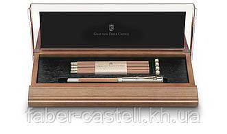 """Настольный набор карандашей Graf von Faber-Castell """"Perfect Pencil"""" brown, коричневый кедр, 118517"""
