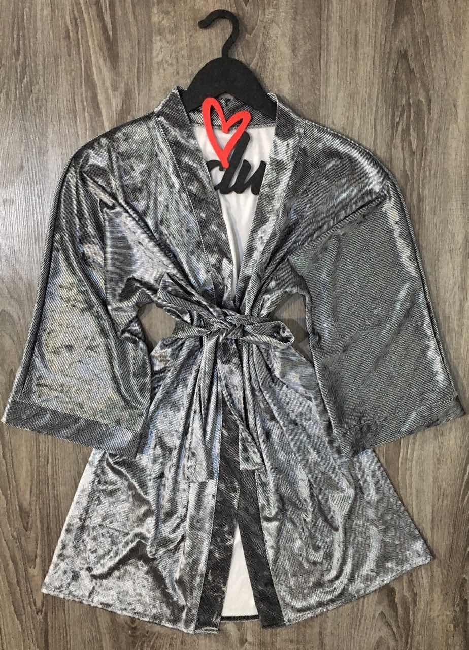 Велюровый домашний халат на запах, женские халаты.