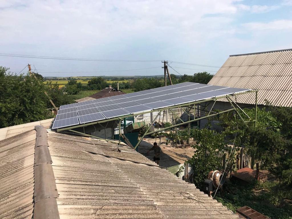 """Сергеевка солнечная электростанция под """"зеленый"""" тариф мощностью 15,7 кВт Risen + Trannergy Днепропетровская область"""