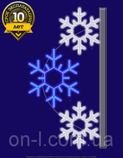 """Кронштейн на опору светодиодный """"Снежный"""", 0.9х1.5м,"""
