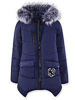 Зимние пальто Ассоль (Темно-синие) (104)