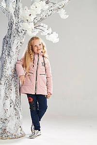 Демисезонная куртка на флисовой подкладке от Ananasko розовый цвет 7331