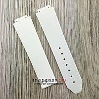 Каучуковый ремешок для часов Hublot Big Bang 21х18 мм белый (08090)