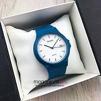 Оригинальные наручные Часы Skmei синие с белым циферблатом (08095)