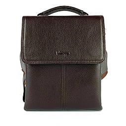 Чоловіча сумка через плече-шкіряна Karya 0811-39 месенджер коричневий