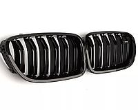 Решетка радиатора BMW 5 F10 M Performance ноздри ф10 бмв глянец  мат черный