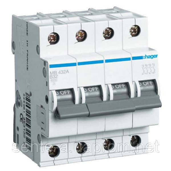 Автоматический выключатель 4 пол. 40А тип В 6КА МВ440А HAGER