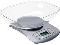 Весы кухонные электронные Adler AD-3137 Silver с чашей