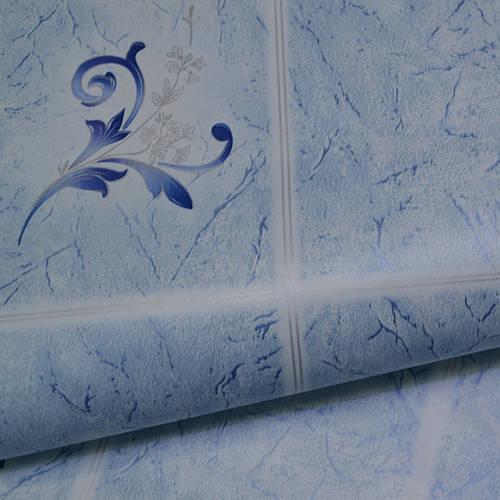 Обои для стен шпалери под плитку влагостойкие блакитні  0,53х10, ограниченное количество