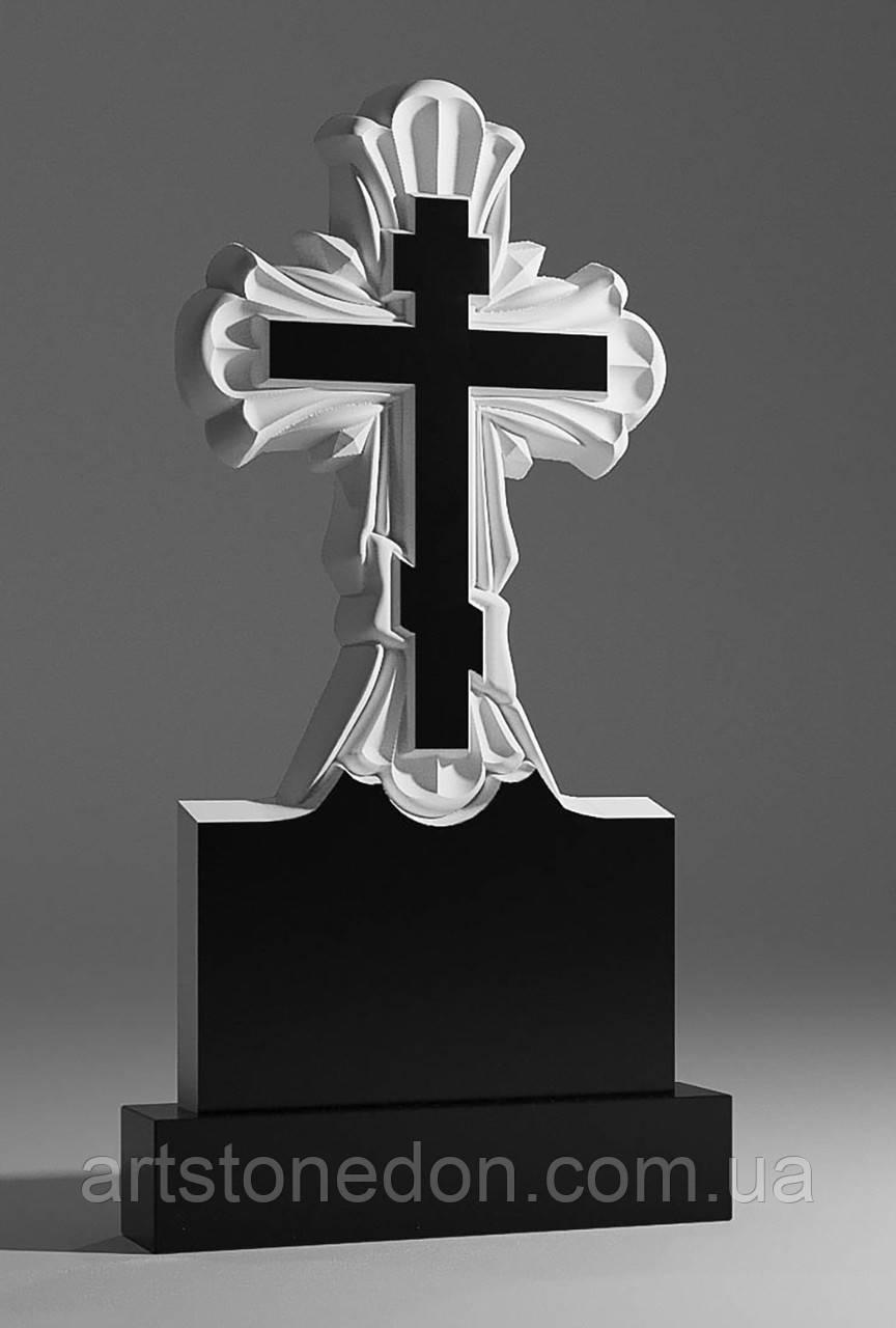 Надгробные кресты из гранита. Крест из гранита резной №211