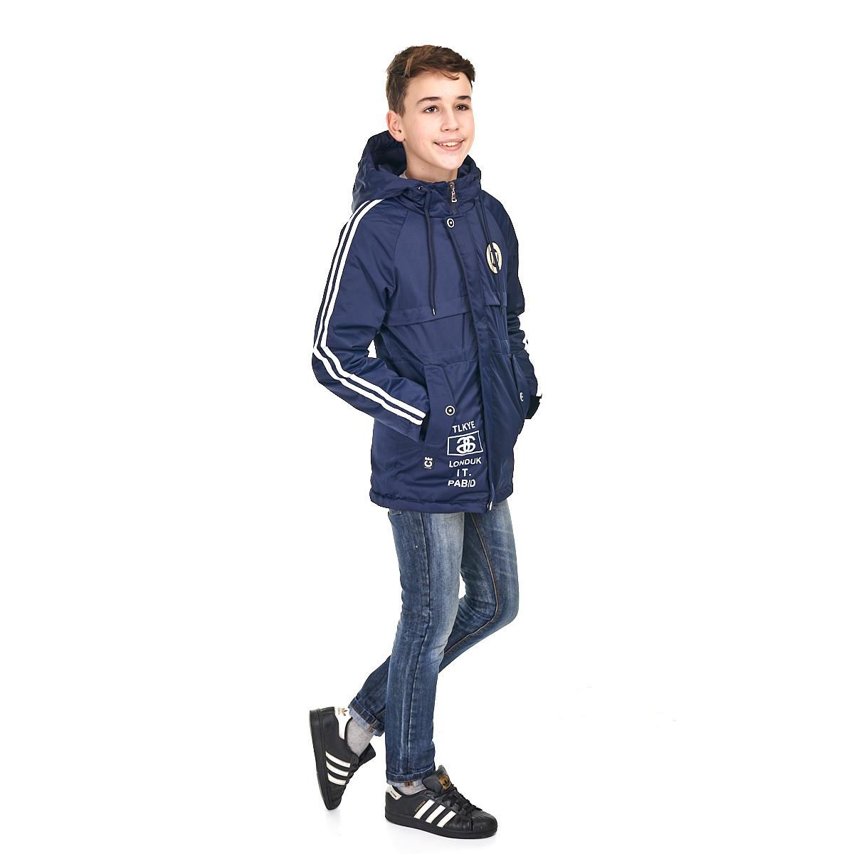 Осенняя куртка на мальчика от 9 до 14 лет от Maz Juang, темно-синий цвет