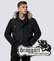 Braggart Dress Code 27830 | Зимняя парка с меховой опушкой черная