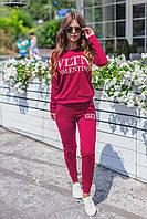 Женский спортивный костюм VLTN 4010 весна-осень (42 44 46 48) (цвет красный) СП