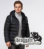 Braggart Aggressive 35228   Мужская зимняя куртка графит-коричневый