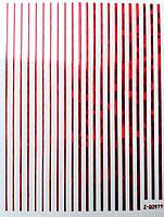 Гибкая лента для дизайна ногтей, красный голограмма