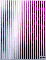 Гибкая лента для дизайна ногтей, малиновый голограмма