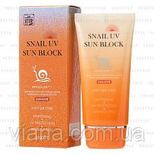 Солнцезащитный улиточный крем Jigott Snail UV Sun Block SPF 50PA