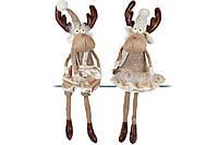 Мягкая декоративная игрушка Олени, 60см, 2 вида, цвет - коричневый,  в упаковке 1шт. (880-100)