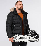 Braggart Aggressive 19833   Мужская куртка с меховой опушкой черная