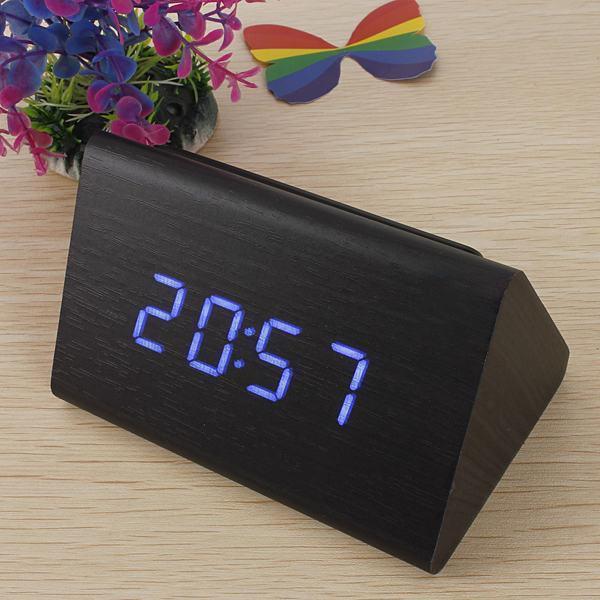 Годинники настільні електронні в дерев'яному корпусі VST-864