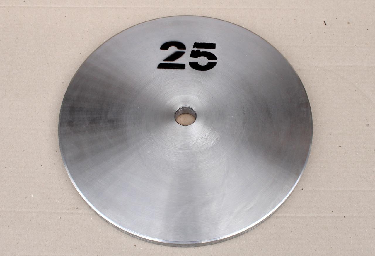 Блин стальной Н/О 25 кг (26/31/52 мм)
