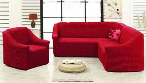 Чехол на угловой диван с креслом без оборки