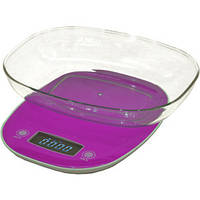 Весы кухонные электронные Camry CR 3150 Violet  с чашей