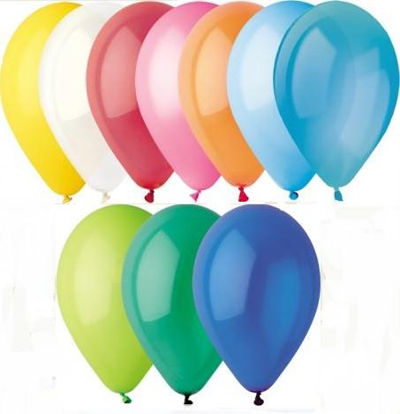 Воздушный шар без рисунка 13 см ассорти