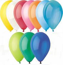 Воздушный шар без рисунка 8 см ассорти