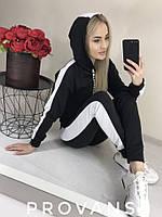 Женский спортивный костюм 106 весна-осень (42-44, 46-48, 50-52) (цвет черный) СП, фото 1
