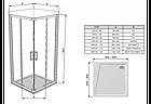 Душевая кабина Ravak 10 ° 10RV2K + 10RV2K Transparent раздвижная четырехэлементная, фото 7