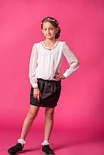 Школьная блузка для девочки Школьная форма для девочек MONE Украины 1548 Белый