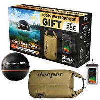 Эхолот Deeper PRO+ WiFi+GPS + ПОДАРКИ (гермомешок 10л для вещей, водонепроницаемый чехол для телефона)