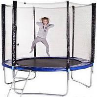 Батут Funfit ORIGINAL 374см (12ft) диаметр с внешней сеткой спортивный для детей и взрослых