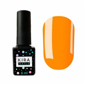 Гель-лак Kira Nails №021 (оранжевый, эмаль), 6 мл