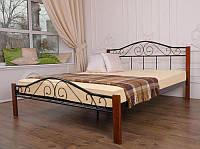 Кровать металлическая двуспальная 1600 х 2000 Респект Вуд