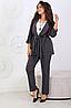 Брючний костюм двійка з кардіганом, з 48-58 розмір